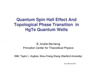 Quantum Spin Hall Effect And Topological Phase Transition in HgTe Quantum Wells