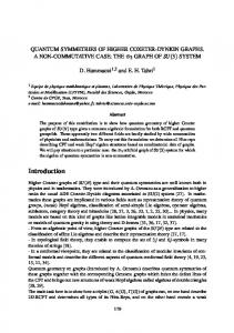 QUANTUM SYMMETRIES OF HIGHER COXETER-DYNKIN GRAPHS. A NON-COMMUTATIVE CASE: THED 3 GRAPH OF SU(3) SYSTEM. Abstract