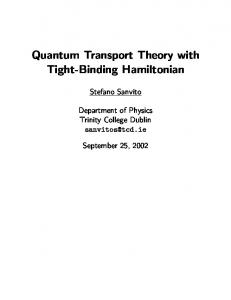 Quantum Transport Theory with Tight-Binding Hamiltonian