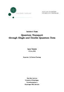 Quantum Transport through Single and Double Quantum Dots