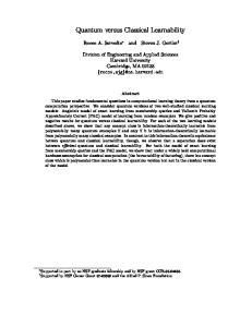 Quantum versus Classical Learnability