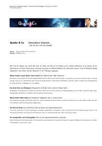 Quarks&Co. Quarks & Co. ...wie sie isst und sich bewegt