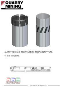 QUARRY MINING & CONSTRUCTION EQUIPMENT PTY LTD CORING CATALOGUE