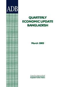 QUARTERLY ECONOMIC UPDATE BANGLADESH
