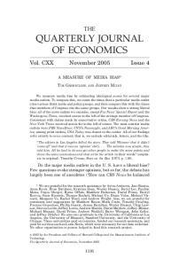 QUARTERLY JOURNAL OF ECONOMICS