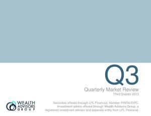 Quarterly Market Review Third Quarter 2015