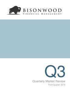 Quarterly Market Review. Third Quarter 2016