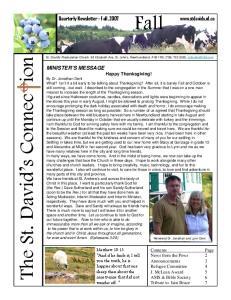 Quarterly Newsletter - Fall, 2007