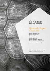 Quarterly Report 31 March 2016