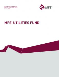 QUARTERLY REPORT July 31, 2012 MFS UTILITIES FUND