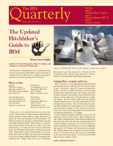 Quarterly. The Updated Hitchhiker s Guide to IRM. The IRM