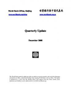 Quarterly Update. December 2008
