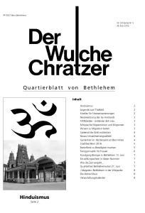 Quartierblatt von Bethlehem