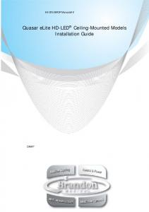 Quasar elite HD-LED Ceiling-Mounted Models Installation Guide