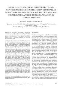 Quaternary Surveys, Thornhill, Ontario, Canada and Department of Geography, York University, York, Ontario, Canada 2