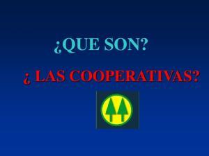 QUE SON? LAS COOPERATIVAS?