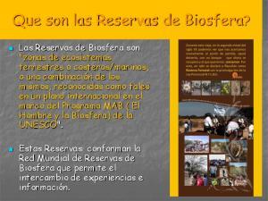 Que son las Reservas de Biosfera?