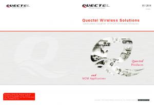 Quectel Wireless Solutions Dedicated Supplier of M2M Wireless Modules