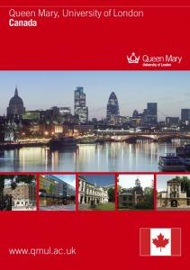 Queen Mary, University of London Canada