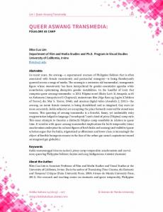 Queer Aswang Transmedia: