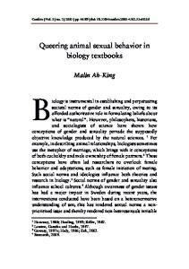 Queering animal sexual behavior in biology textbooks