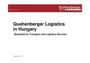 Quehenberger Logistics in Hungary Specialist for Transport and Logistics Services