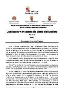 Quejigares y encinares de Sierra del Madero