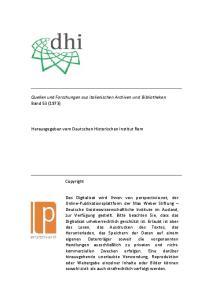 Quellen und Forschungen aus italienischen Archiven und Bibliotheken Band 53 (1973) Herausgegeben vom Deutschen Historischen Institut Rom