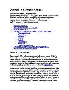 Quenya - La Lengua Antigua