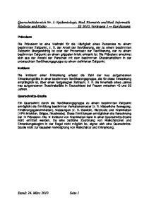 Querschnittsbereich Nr. 1: Epidemiologie, Med. Biometrie und Med. Informatik