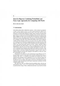 Quest for Rigorous Combining Probabilistic and Fuzzy Logic Approaches for Computing with Words