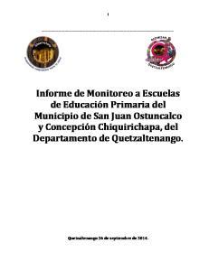 Quetzaltenango 26 de septiembre de 2014
