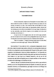 Quevedo y Alatriste. Universidad de Murcia