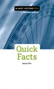 Quick. Facts. Equity ETFs