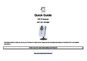 Quick Guide. P2P IP Cameras ART. NO. CR728W