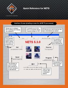 Quick Reference for NETS