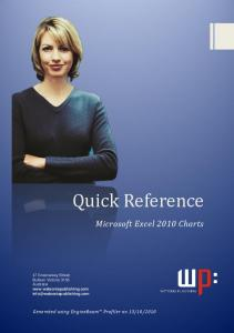 Quick Reference. Microsoft Excel 2010 Charts