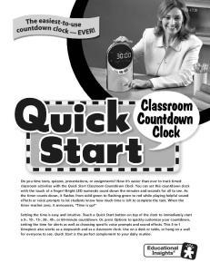 Quick Start Classroom Countdown Clock