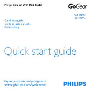 Quick start guide.  Philips GoGear Wifi Mini Tablet. Quick start guide Guide de mise en route Kurzanleitung