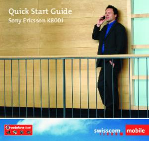 Quick Start Guide. Sony Ericsson K800i