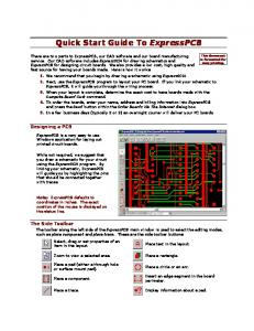Quick Start Guide To ExpressPCB