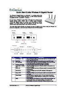 Quick Start Guide Wireless N Gigabit Router