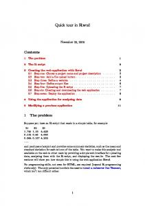 Quick tour in Rwui. November 23, The problem 1. 2 The R script 2