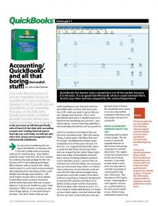 QuickBooks and all that boring (but useful) stuff!