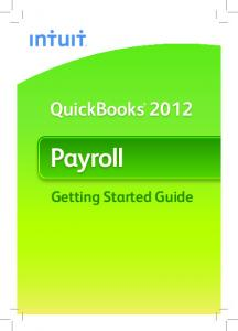 QuickBooks Payroll. Getting Started Guide