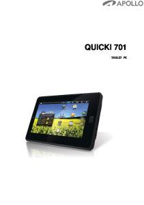QUICKI 701 TABLET PC