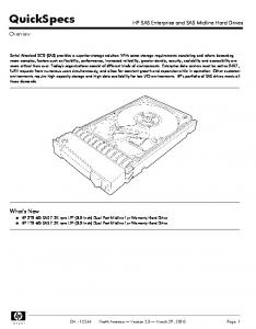 QuickSpecs. HP SAS Enterprise and SAS Midline Hard Drives. Overview