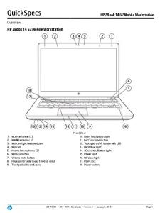 QuickSpecs. HP ZBook 14 G2 Mobile Workstation. HP ZBook 14 G2 Mobile Workstation. Overview