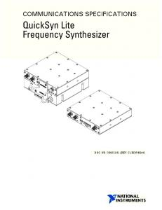 QuickSyn Lite Frequency Synthesizer