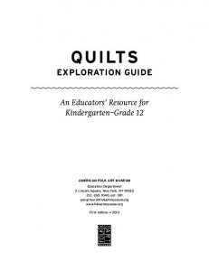 QUILTS EXPLORATION GUIDE